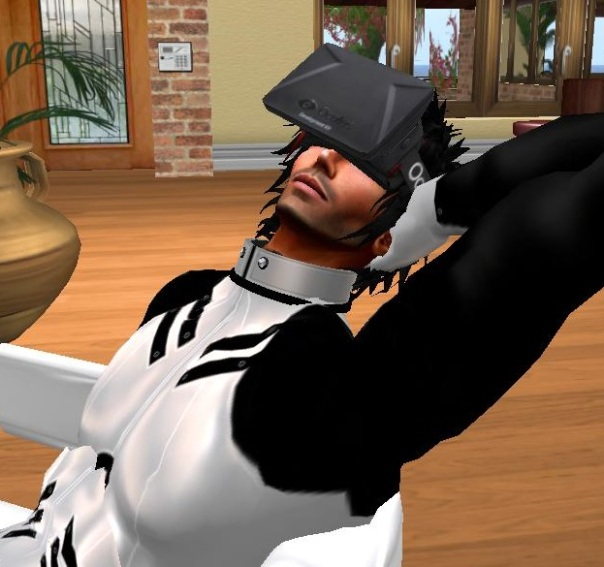 Virtual reality in a Virtual World - trying out Oculus Rift